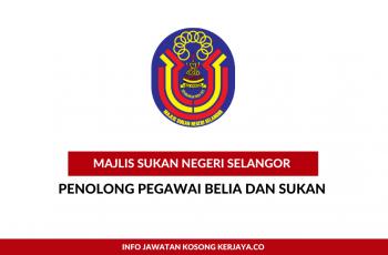 Majlis Sukan Negeri Selangor ~ Penolong Pegawai Belia & Sukan
