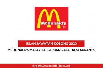 McDonald's Malaysia- Gerbang Alaf Restaurants ~ Pelbagai Kekosongan Jawatan