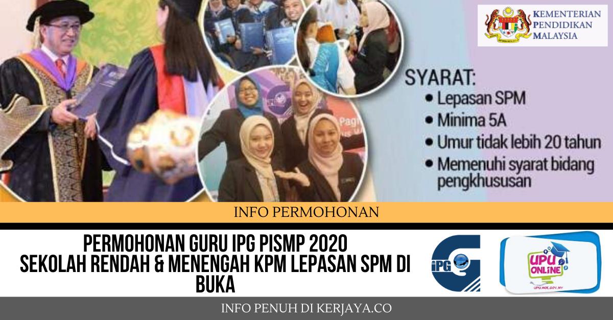 Permohonan Guru IPG PISMP Sekolah Rendah & Menengah KPM ...