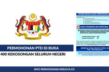 Bagaimana Mohon Jawatan PTD 2020. Permohonan PTD