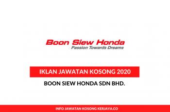 Boon Siew Honda ~ Pelbagai Kekosongan Jawatan