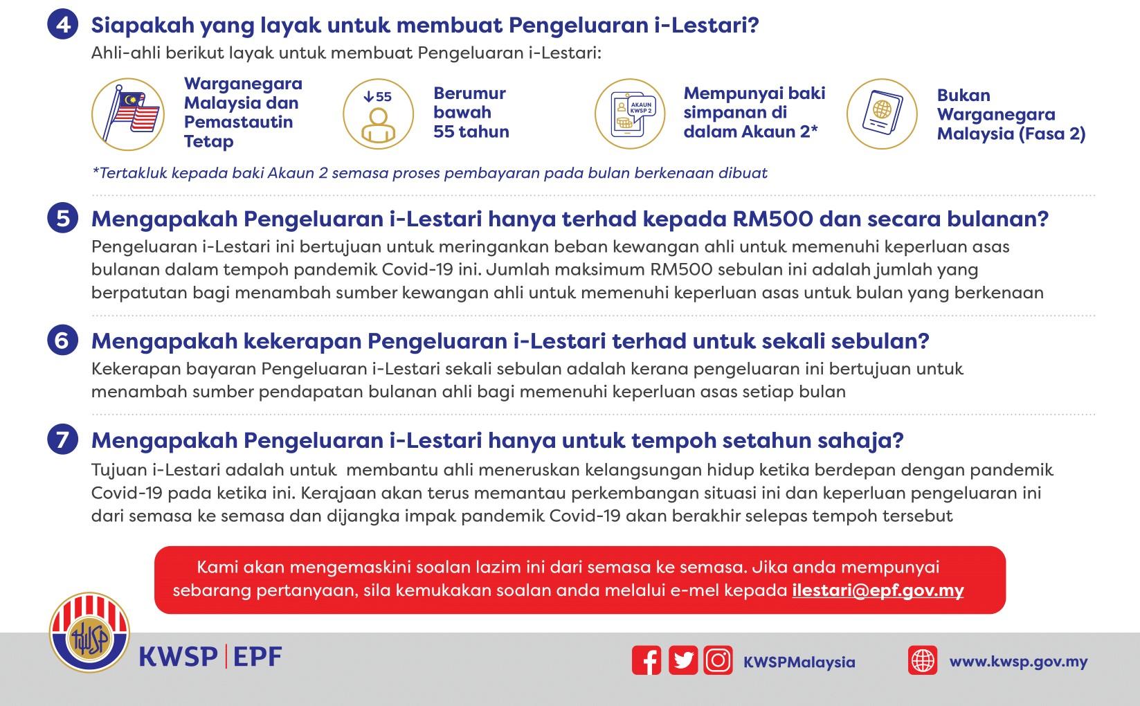 Daftar Pengeluaran i-Lestari Akaun 2 KWSP