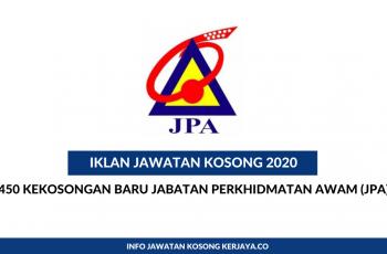 Jabatan Perkhidmatan Awam (JPA) ~ 450 Kekosongan Jawatan Pegawai Tadbir & Diplomatik
