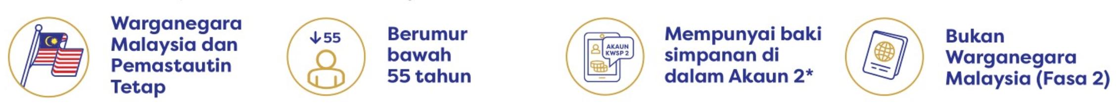 Kelayakan Pengeluaran i-Lestari Akaun 2 KWSP