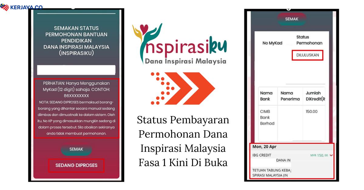 Semakan Status Permohonan Yapeim Dana Inspirasi Malaysia Fasa 1 Kini Di Buka