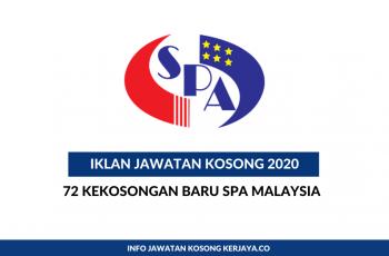 Suruhanjaya Perkhidmatan Awam Malaysia (SPA Malaysia) ~ 72 Kekosongan Baru Tahun 2020