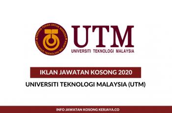 Universiti Teknologi Malaysia (UTM) ~ Pegawai Penyelidik