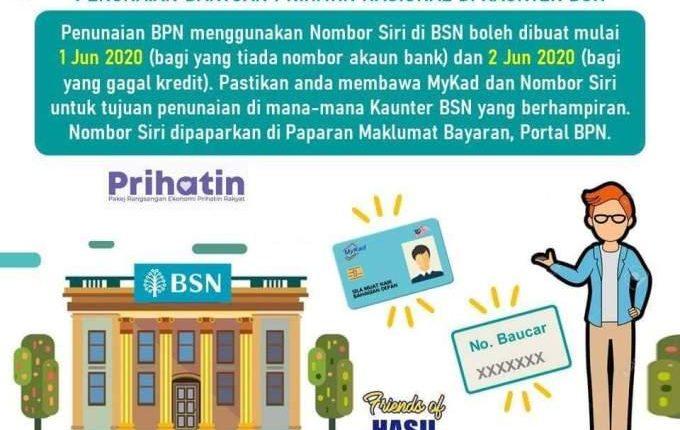 Semakan Nombor Siri BPN (No Baucar) Di Buka Bagi Pemohon Akaun Bank Tidak Aktif. Untuk Tunaikan Bantuan BPN Anda Di Bank