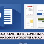 Cara Buat Cover Letter Guna Templates Microsoft Word, Free Sahaja • Kerja Kosong Kerajaan