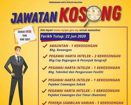 Iklan Jawatan Kosong Perbadanan Harta Intelek Malaysia Myipo Kerja Kosong Kerajaan