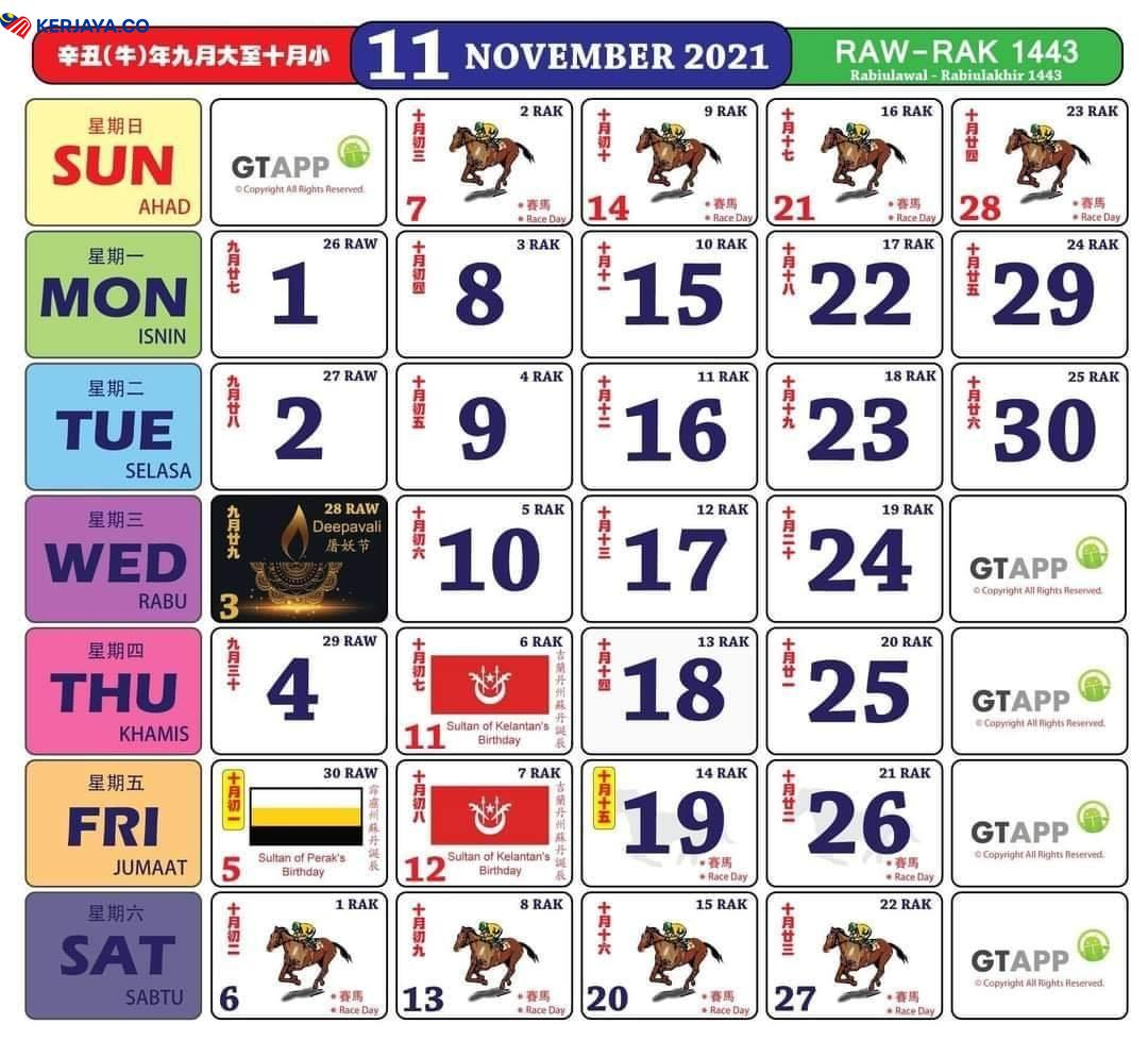 Updated Download Kalender 2021 Ini. Jom Plan Cuti Anda ...